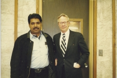 DJG with a Harvard University lecturer at the University of Maine, Oregon
